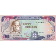 50  долларов  2003-10 год . Ямайка