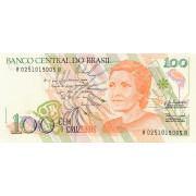 100 крузейро 1990 год .Бразилия