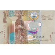 1/4 динара 2014 год . Кувейт
