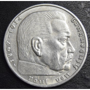 2 марки 1937 год. Пауль фон Гинденбург