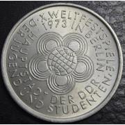 10 марок 1973 год. 10-й международный  фестиваль молодёжи и студентов в Берлине
