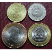 Набор монет Ангола 2012-2014 г.г