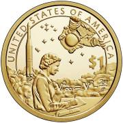 1 доллар 2018 год   Сакагавея -Космическая программа