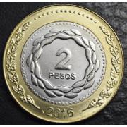 2 песо 2016 год. Аргентина