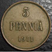 5 пенни 1911 год