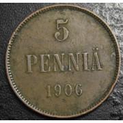 5 пенни 1906 год
