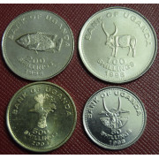 Набор монет.  Уганда