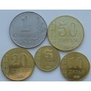 Набор монет  Таджикистан 2017 год.