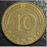 10 пфеннигов 1990 год Германия