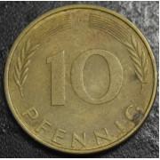 10 пфеннигов 1974 год  Германия