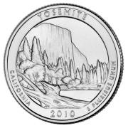 """25 центов 2010 год.  3-й Национальный парк """" Йосемитский парк (Калифорния) """""""