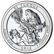 """25 центов 2012 год.  11-й Национальный парк """" Эль-Юнке """""""