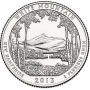 """25 центов 2013 год.  16-й Национальный парк """" Белые горы"""""""