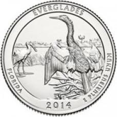 """25 центов 2014 год.  25-й Национальный парк """"Эверглейдс"""""""