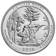25 центов 2018 год. 41-й    Национальные озёрные побережья живописных камней.