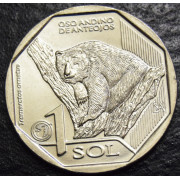 """1 соль  2017 год , Перу .""""Очковый медведь"""""""