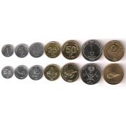 Набор монет  Мальдивы  2007-2012 г.г