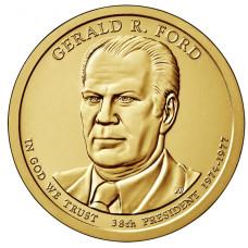 1 доллар 2016 год  38-й президент Джеральд Форд