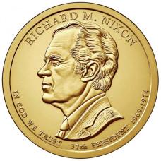 1 доллар 2016 год  37-й президент Ричард М. Никсон