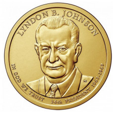 1 доллар 2015 год  36-й президент Линдон Джонсон