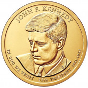 1 доллар 2015 год  35-й президент Джон Кеннеди