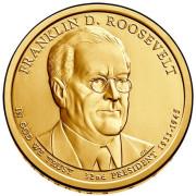1 доллар 2014 год  32-й президент  Франклин Рузвельт