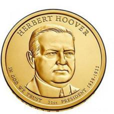 1 доллар 2014 год  31-й президент Герберт Гувер
