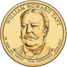 1 доллар 2013 год  27-й президент Уильям Говард Тафт