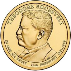 1 доллар 2013 год  26-й президент Теодор Рузвельт