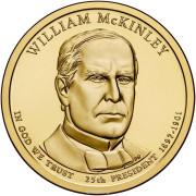 1 доллар 2013 год  25-й президент Уильям Мак-Кинли
