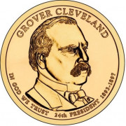 1 доллар 2012 год  24-й президент  Гровер Кливленд