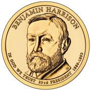 1 доллар 2012 год  23-й президент  Бенджамин Гаррисон