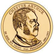 1 доллар 2012 год  21-й президент Честер Артур