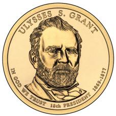 1 доллар 2011 год  18-й президент Улисс С. Грант