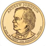 1 доллар 2011 год  17-й президент  Эндрю Джонсон