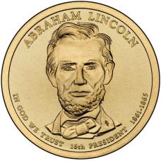 1 доллар 2010 год  16-й президент  Авраам Линкольн