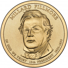 1 доллар 2010 год  13-й президент Миллард Филлмор