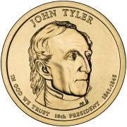 1 доллар 2009 год  10-й президент Джон Тайлер