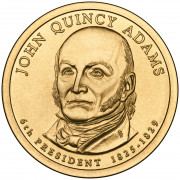 1 доллар 2008 год  6-й президент  Джон Куинси Адамс