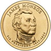 1 доллар 2008 год  5-й президент  Джеймс Монро