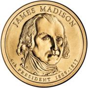 1 доллар 2007 год  4-й президент  Джеймс Медисон