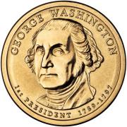 1 доллар 2007 год 1-й президент Джордж Вашингтон