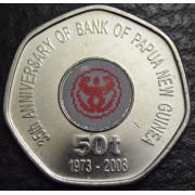 "50 тойа  2008 год, Папуа-Новая Гвинея  "" 35 лет банку ""цветная"