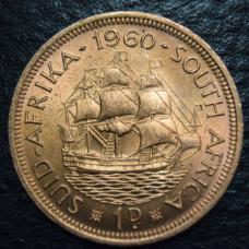 1 пенни 1960 год  ЮАР