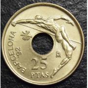 25 песет 1991  год  Испания-Летние Олимпийские игры в Барселоне 1992г.