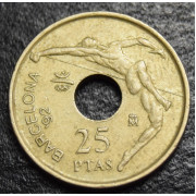 25 песет 1990  год  Испания-Летние Олимпийские игры в Барселоне 1992г.