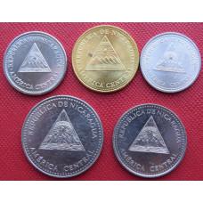 Набор монет  Никарагуа 2002-2007 г.г