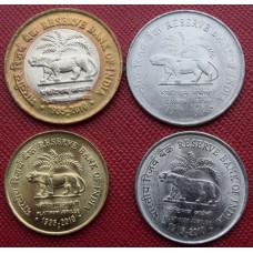 Набор монет  Индия 2010 год