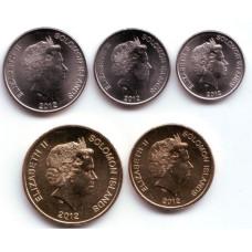Набор монет  Соломоновы острова 2012 год