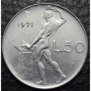 50 лир 1971 год  Италия